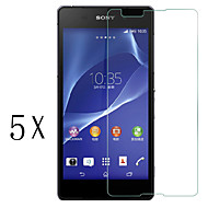 [5-pack] ammatillisen korkea läpinäkyvyys lcd kristallinkirkas näytön suojus kanssa puhdistusliina Sony Xperia e4