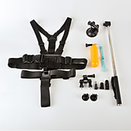 6 In 1 Oudoor Sports Accessories Suit  for Gopro Hero 4/3+/3/2/1/sj4000/sj5000/sj6000