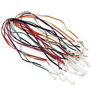 70pcs Flat Velvet Cord Necklace Chain Pendant Clasp Hook