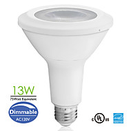 E26 13W 800lm COB LED PAR Lamp Long Neck PAR30 75watt Equivalent Dimmable Sofe/ Natural/Cool White AC120V