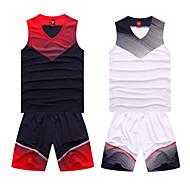 남성의 - 통기성/높은 호흡 능력(>15.001g)/빠른 드라이/wicking - 민 소매 - 레저 스포츠/농구 - 수트/운동복