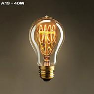 1개 YouOKLight E26/E27 (40) W 400 LM 따뜻한 화이트 장식 LED 필라멘트 램프 AC 110-130 V