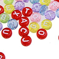 200PCS Plastic Alphabet Letter Spacer Loose Beads 0.3