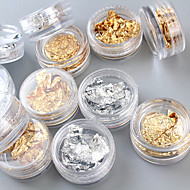 12PCS Nail Art Nail Decorations Gold and Silver Foil Stripping Tape for  Nail Tips