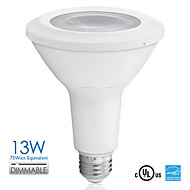 Vanlite E26 13W 800lm COB LED PAR30 Lamp Dimmable Long Neck 75watt Equivalent Sofe/ Natural White AC120V