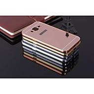 Voor Samsung Galaxy hoesje Schokbestendig / Beplating / Spiegel hoesje Achterkantje hoesje Effen kleur Metaal Samsung J7