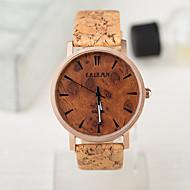 Orologi di stile europeo di orologi d'epoca in legno di caso impermeabile uomini e donne guardano