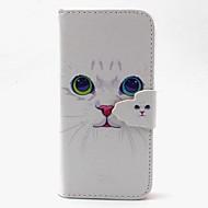 For Samsung Galaxy etui Kortholder Pung Med stativ Flip Etui Heldækkende Etui Kat Kunstlæder for SamsungS6 edge S6 S5 Mini S5 S4 Mini S4