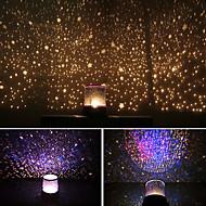 stjernehimmel nattehimmelen projektor fargerike ledet nattlys (drevet av 3 AA-batteri)