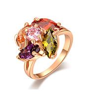 Duże pierścionki Pozłacane Stop Modny Biżuteria Ślub Impreza Codzienny Casual 1szt