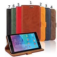 Mert Samsung Galaxy Note Pénztárca / Kártyatartó / Állvánnyal / Flip Case Teljes védelem Case Egyszínű Műbőr Samsung Note 4