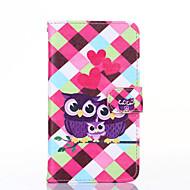 Para Samsung Galaxy Note Cartera / Soporte de Coche / con Soporte / Flip Funda Cuerpo Entero Funda Búho Cuero Sintético SamsungNote 4 /