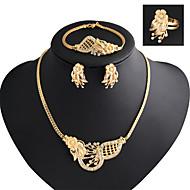 Damen Schmuckset Modisch Luxus-Schmuck Modeschmuck Diamantimitate Ohrringe Halskette Armband Ring Für Party Besondere Anlässe Geburtstag