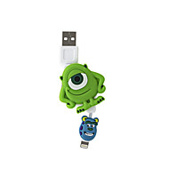 Disney Mike Foldable Charging Cable For Iphone 5G/5S/5C/6/6PLUS Ipad Air 2 Ipad Mini