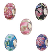 Beads - vidrio/Metal 1Pcs -