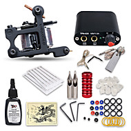 Beginner Tattoo Kit 1 Machine Professional Tattoo Kit 1 Cast Iron Machine Liner & Shader 1 Mini Power Supply 10 Tattoo Needles No Carrying Case
