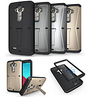 Voor LG hoesje Schokbestendig / met standaard hoesje Volledige behuizing hoesje Pantser Hard Metaal LG LG G4
