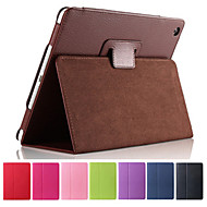 Solid Color Full Body PU Leather Case with Stand for iPad 2/3/4(Assorted Colors)