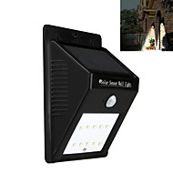 10LED Solar Power PIR Motion Sensor Wall Light Outdoor Waterproof Garden Lamp