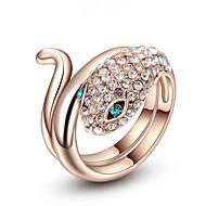 Duże pierścionki Pozłacane Stop Modny Biżuteria Ślub Impreza Urodziny Codzienny Casual 1szt