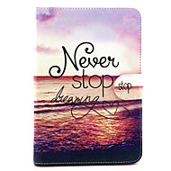 Never Stop Dreaming Pattern PU Leather Full Body Case with Stand for iPad mini 1/2/3