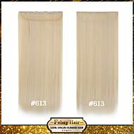 높은 온도 저항 24 인치 표백제 금발 (# 613) 16 색상을 사용할 수 긴 직선 5 클립 가발 확장