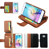 DE JI Wallet PU Leather Case For Samsung Galaxy S6 edge/S6/S5/S4/S3 With 7 Card Slot (Assorted Colors)