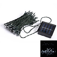 10M 50-LED 8-Mode Blue Light Indoor Outdoor Wedding Christmas Party Solar String Light (EU Plug)