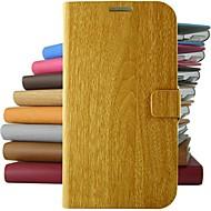 vintage houten patroon pu lederen full body case met standaard voor Samsung Galaxy S5 / S4 / S3 / s4mini (diverse kleuren)