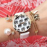 nya damer mode klocka studenter armbandsur kvartsur kvinnor titta på elefant klocka