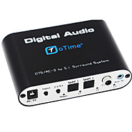 oTime OT-5R DTS / AC-3 Audio Decoder w/ 5.1 Channel Output - Black (EU)