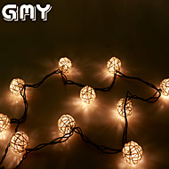 GMY Christmas Light  Rattan Ball String Light