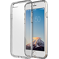 För iPhone 6-fodral / iPhone 6 Plus-fodral Transparent fodral Skal fodral Enfärgat Mjukt TPU iPhone 6s Plus/6 Plus / iPhone 6s/6