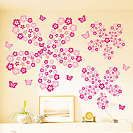 multifunctionele bloemen vorm pvc decoratieve stickers (108pcs / set)