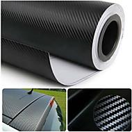 """glasswetis® simcarbon pellicola del vinile della fibra del carbonio 3d involucro nero 12 """"x 50"""" fogli"""