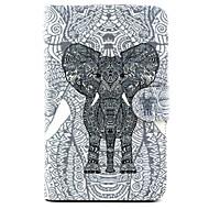 Varten Samsung Galaxy kotelo Korttikotelo / Tuella / Flip / Kuvio Etui Kokonaan peittävä Etui Elefantti Tekonahka SamsungTab 4 10.1 / Tab