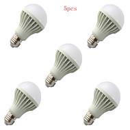 5pcs HRY® 9W E27 850LM 2835SMD Warm/Cool White Sound & Light Control Lamp LED Smart Bulbs(220-240V)
