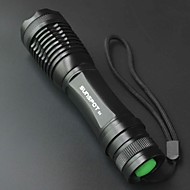 SUNSPOT E6 5 Mode 800 Lumens Handheld Flashlights 18650 Adjustable Focus / Rechargeable /  High Power LED Cree T6