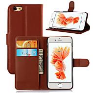 Varten iPhone 6 kotelo / iPhone 6 Plus kotelo Korttikotelo / Flip Etui Kokonaan peittävä Etui Yksivärinen Kova TekonahkaiPhone 6s Plus/6