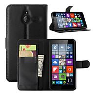 Varten Nokia kotelo Lomapkko / Korttikotelo / Tuella Etui Kokonaan peittävä Etui Yksivärinen Kova Tekonahka NokiaNokia Lumia 730 / Nokia