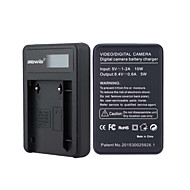 Camera Battery Charger with Screen for JVC VF808 Black