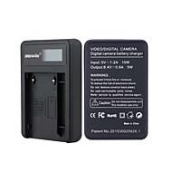 Kameraet batterilader med skjermen for jvc vf808 svart