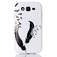 For Samsung Galaxy Case Pattern Case Back Cover Case Feathers TPU Samsung Grand Neo