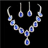 Damen Schmuckset Modisch Mehrfarbig Modeschmuck Diamantimitate Ohrringe Halskette Für Party Besondere Anlässe Geburtstag Verlobung