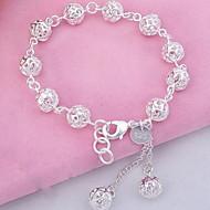 Dames Bedelarmbanden Bangles Strand Armbanden Modieus Sterling zilver Kristal Bal Zilver Sieraden Voor Feest Dagelijks Sport Kerstcadeaus