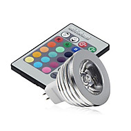 3W GU5.3(MR16) Luci LED da palcoscenico MR16 1 LED ad alta intesità 250 lm Colori primariIntensità regolabile / Controllo a distanza /