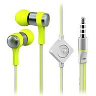 WHF-118 3,5 mm støjreducerende mike i øret øretelefon til iPhone og andre telefoner (assorterede farver)