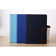 DE JI Jean Canvas Leather Case for Apple iPad Air With Retina Display, Cowboy Stand Case for ipad 5 Air