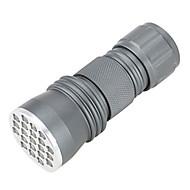 Lampe de poche UV LED 1 Mode 395 Lumens Détecteur de contrefaçon LED AAA / Pile C De travail - Autres , Gris Alliage d'aluminium