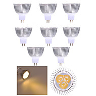 10pcs 3W MR16 350LM Warm/Cool White Light LED Spot Lights(12V)